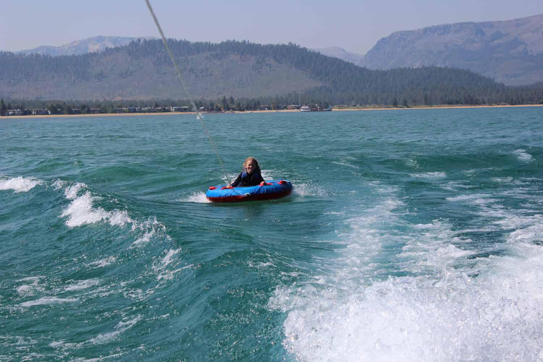tubing on lake tahoe